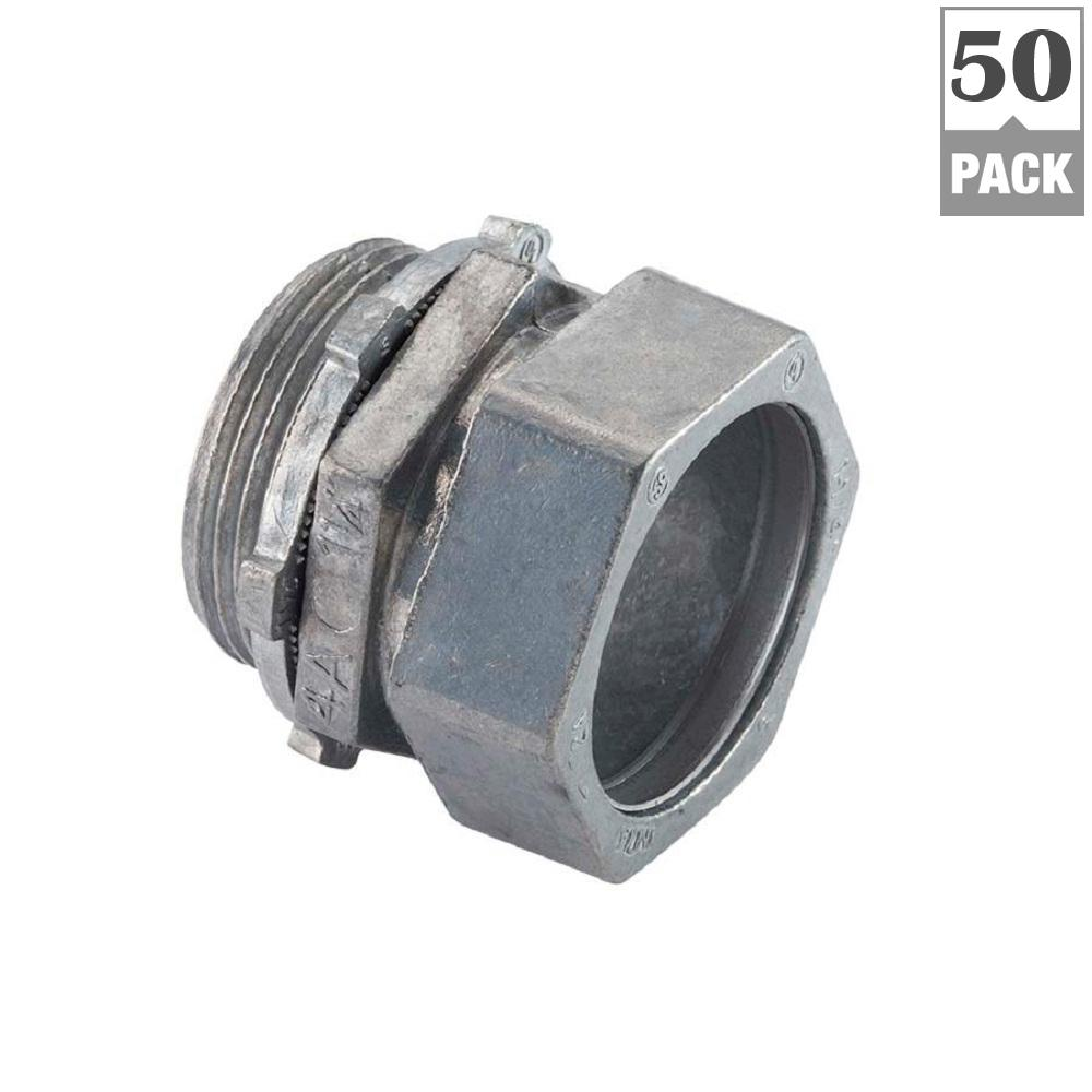 Halex 1/2 in. Electrical Metallic Tubing (EMT) Compression Connector (50-Pack)