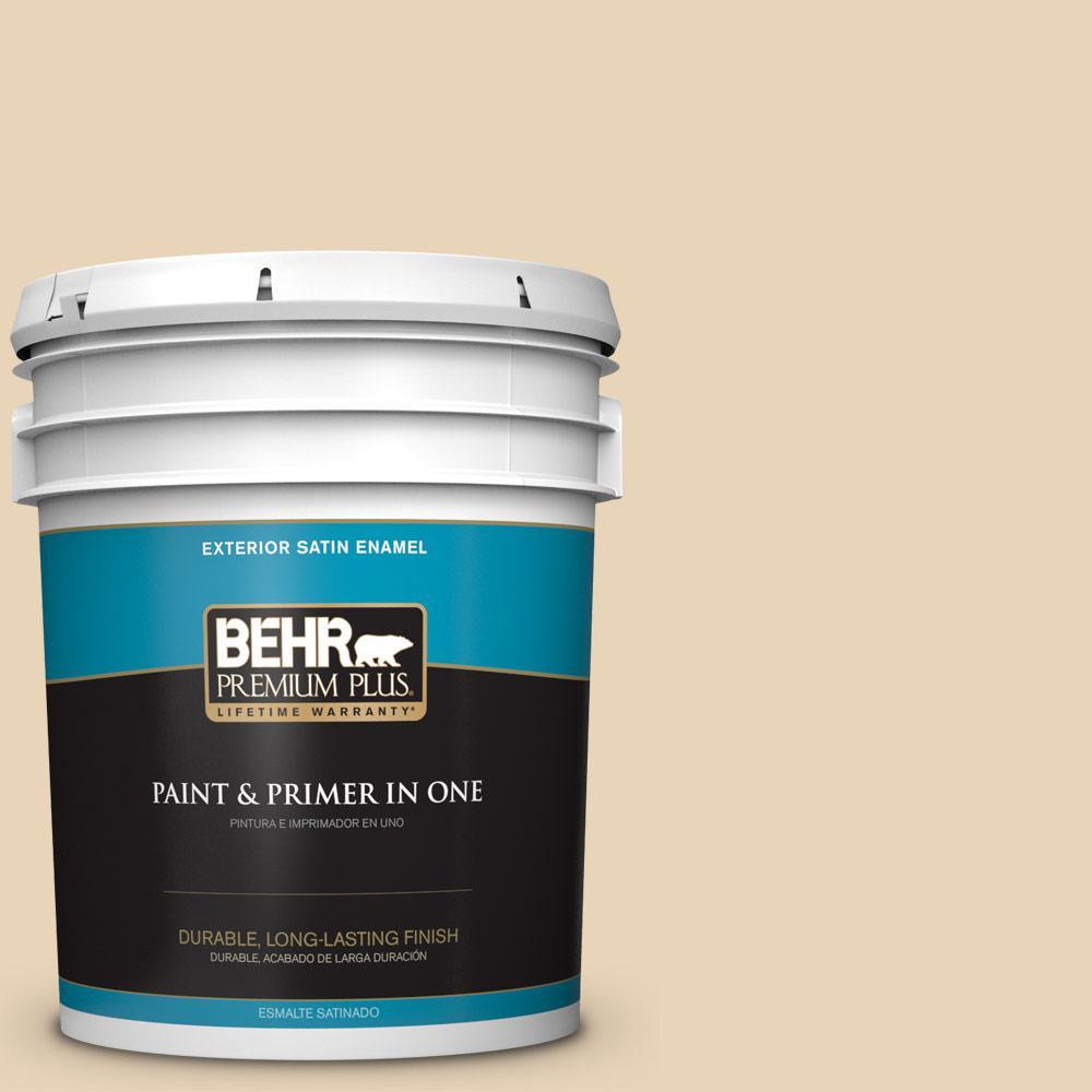 5 gal. #PPU7-18 Sand Pearl Satin Enamel Exterior Paint
