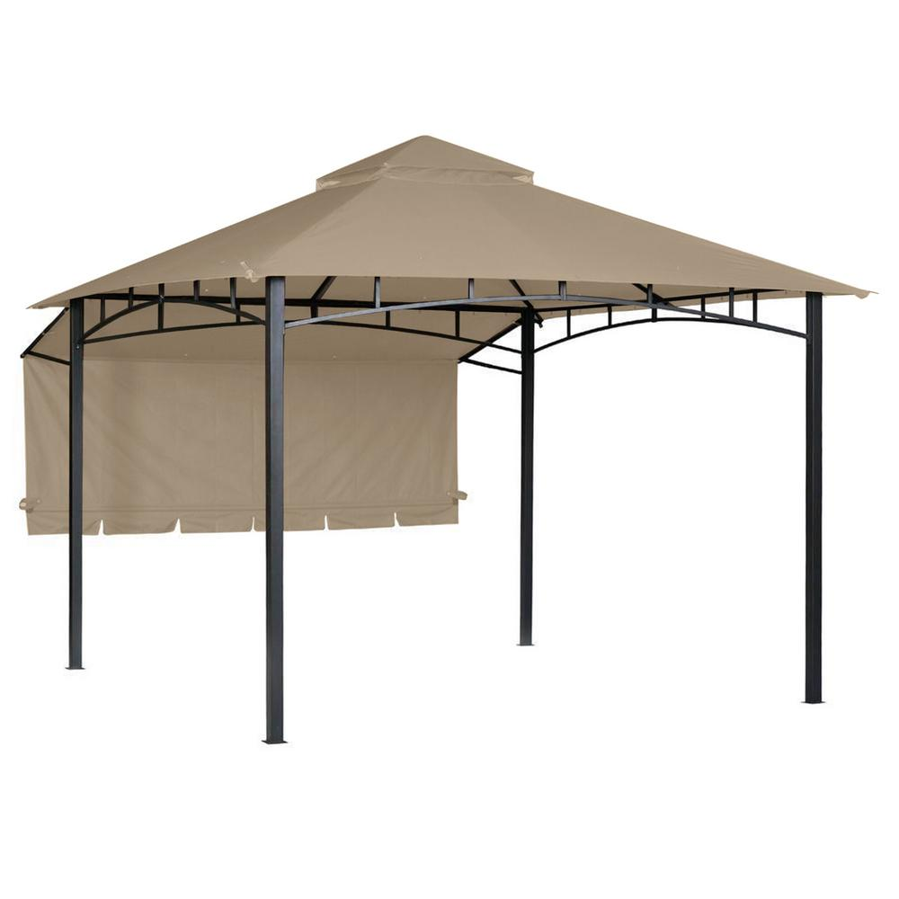 new arrival 11184 48dfb RipLock 350 Beige Replacement Canopy for 10 ft. x 10 ft. Garden House with  Awning