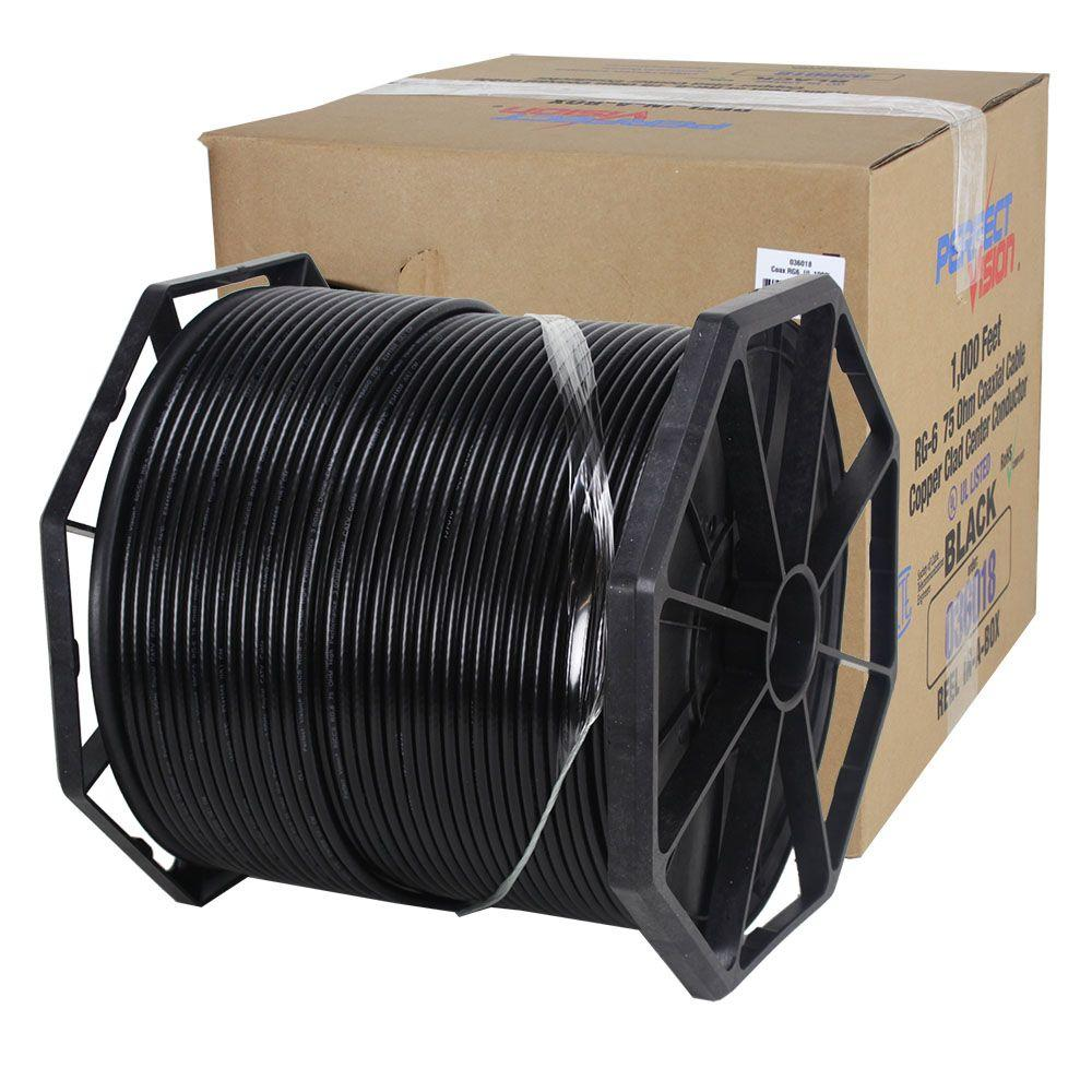 PerfectVision 1000 ft. RG-6 Coaxial Cable Black