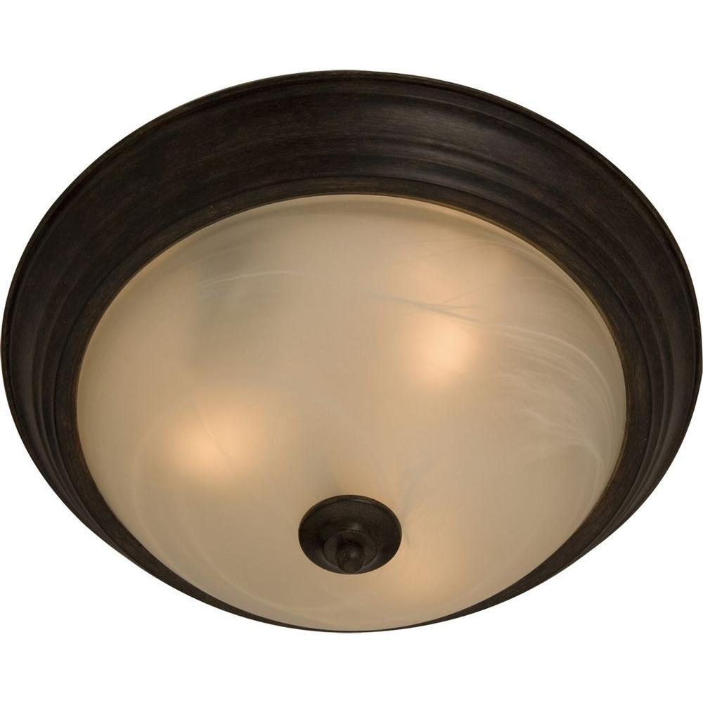 Illumine Penting Oil Rubbed Bronze Bowl Flush Mount