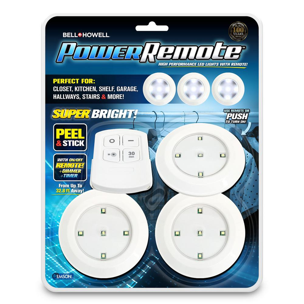 Remote Super Bright High Performance Mini Led Lights With As Seen On Tv 3 Pack