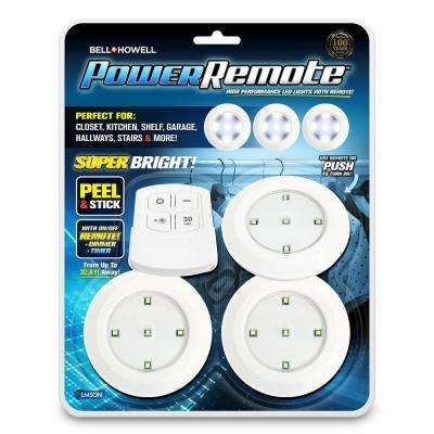 Power Remote Super Bright High Performance Mini LED Lights with Remote as Seen on TV (3-Pack)