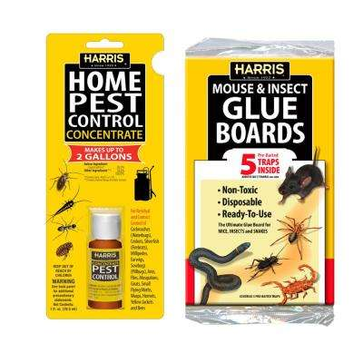 1 oz. Pest Control Concentrate and Pest Glue Boards (5-Pack)
