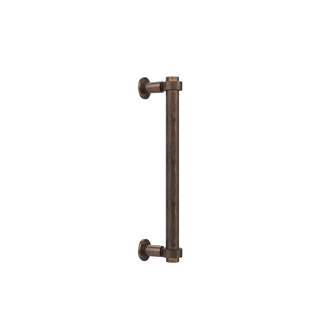 Contemporary 12 in. Back to Back Shower Door Pull in Venetian