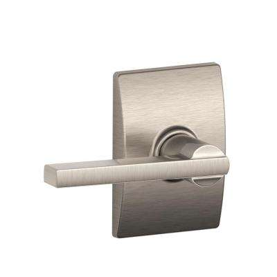 Latitude Satin Nickel Hall and Closet Lever with Century Trim