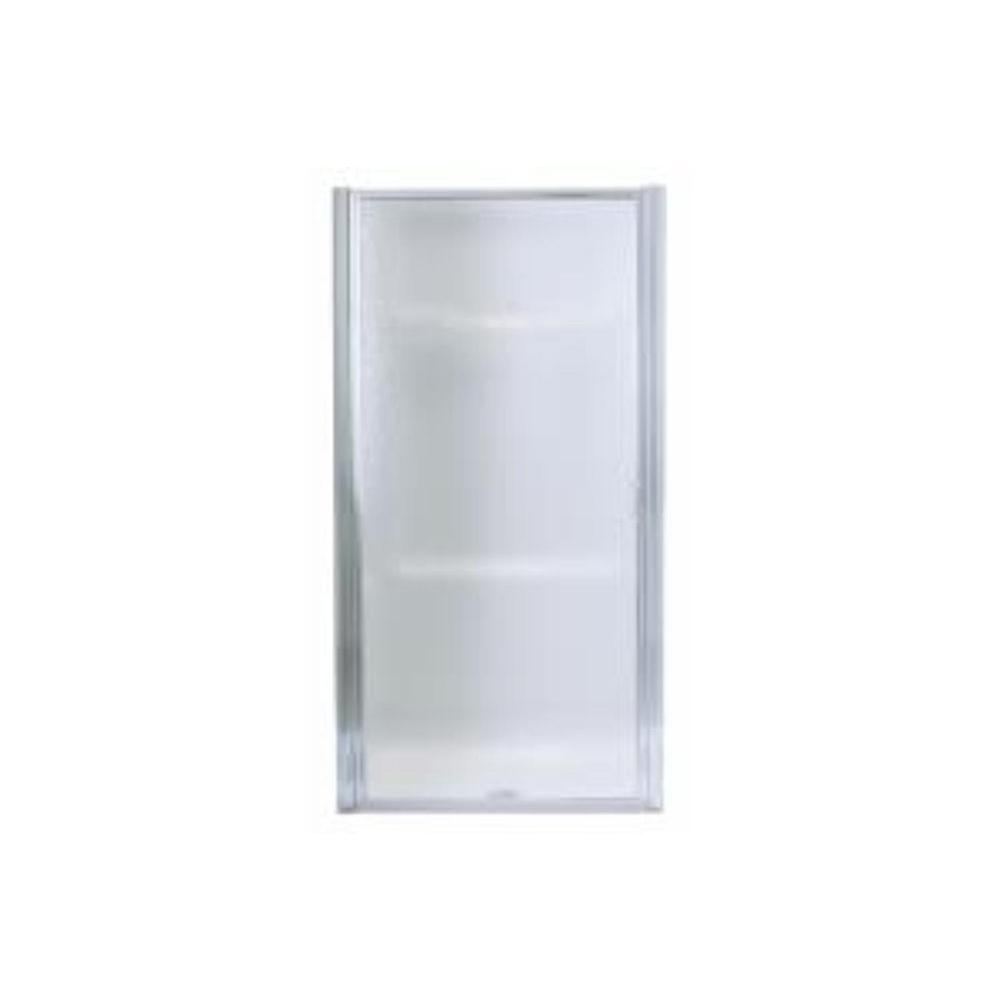 Sterling Standard 30 1 2 In X 64 Framed Pivot Shower Door Silver With Handle 950c 30s The Home Depot