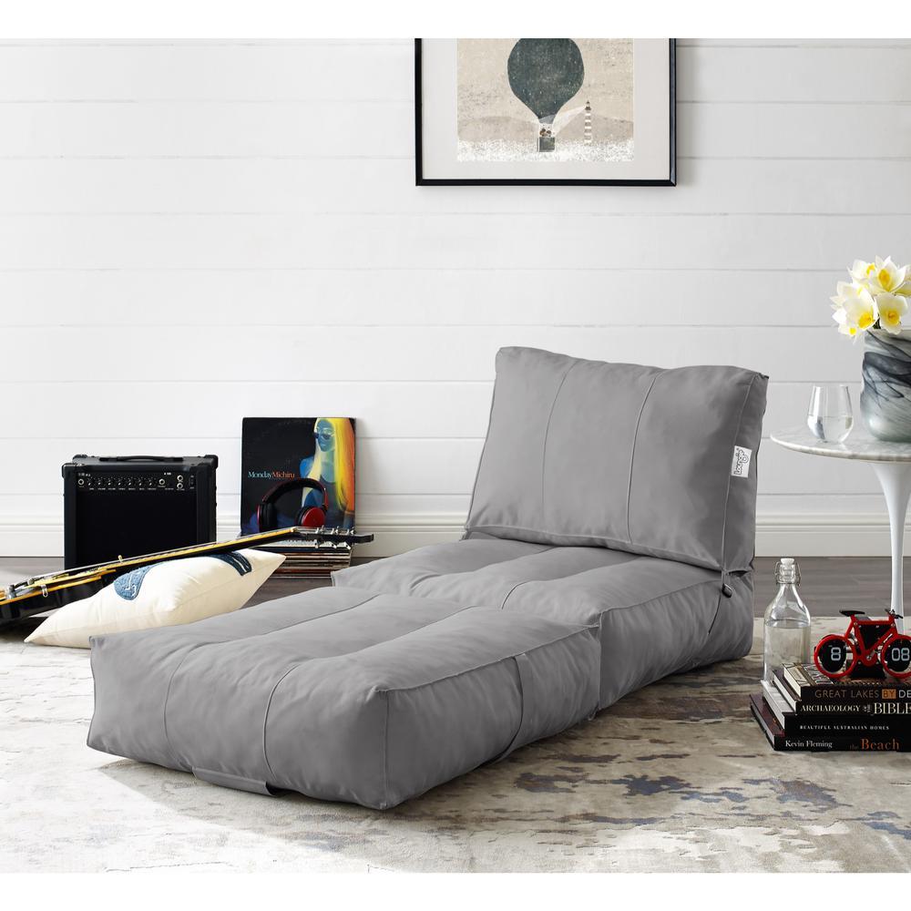 Astonishing Loungie Cloudy Light Grey Bean Bag Lounger Chair Convertible Andrewgaddart Wooden Chair Designs For Living Room Andrewgaddartcom