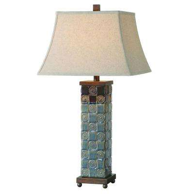 31 in. Dark Blue Table Lamp