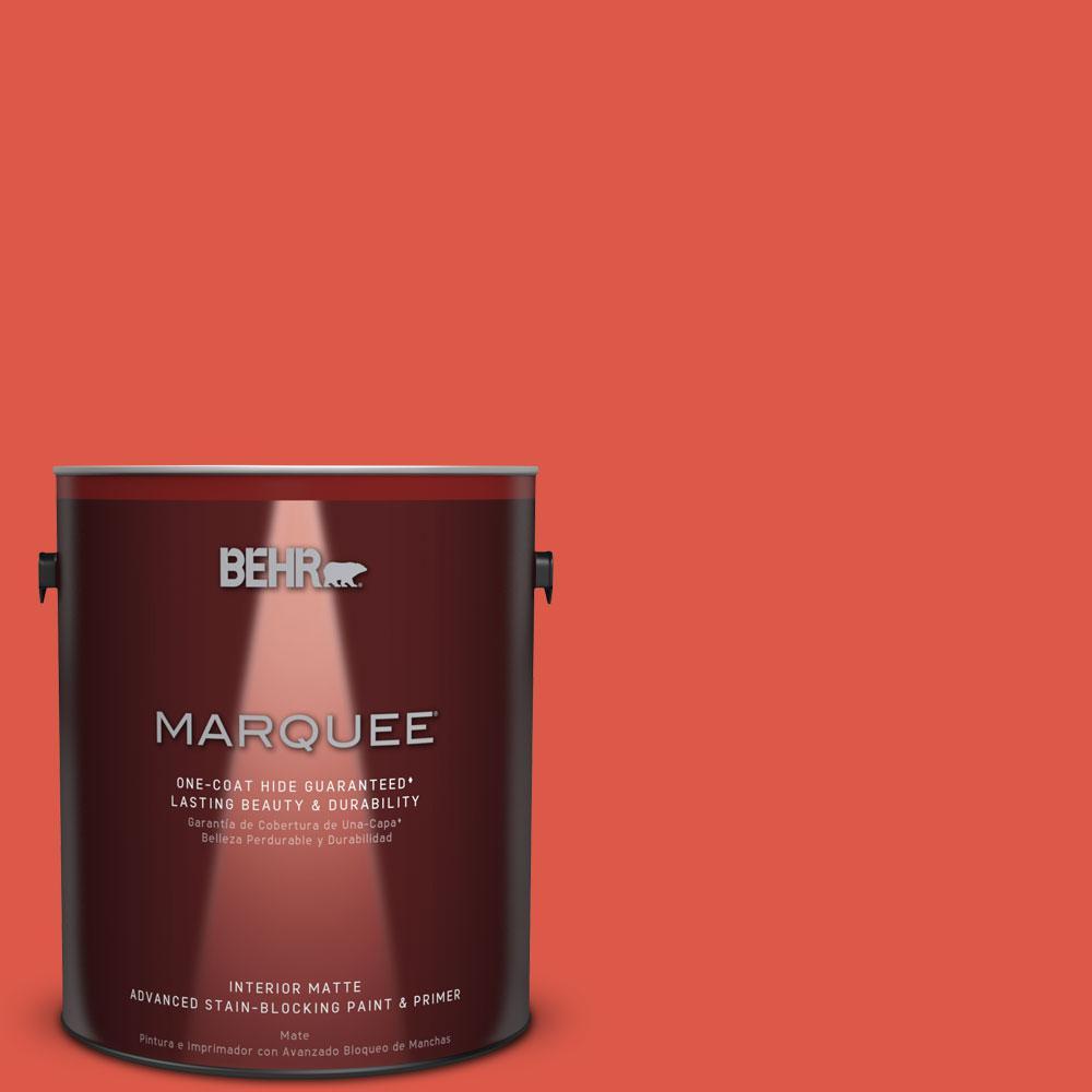1 gal. #T12-7 Red Wire Matte Interior Paint
