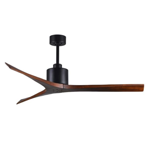 Mollywood 60 in. Matte Black Ceiling Fan with Hand Held Remote and Wall Control
