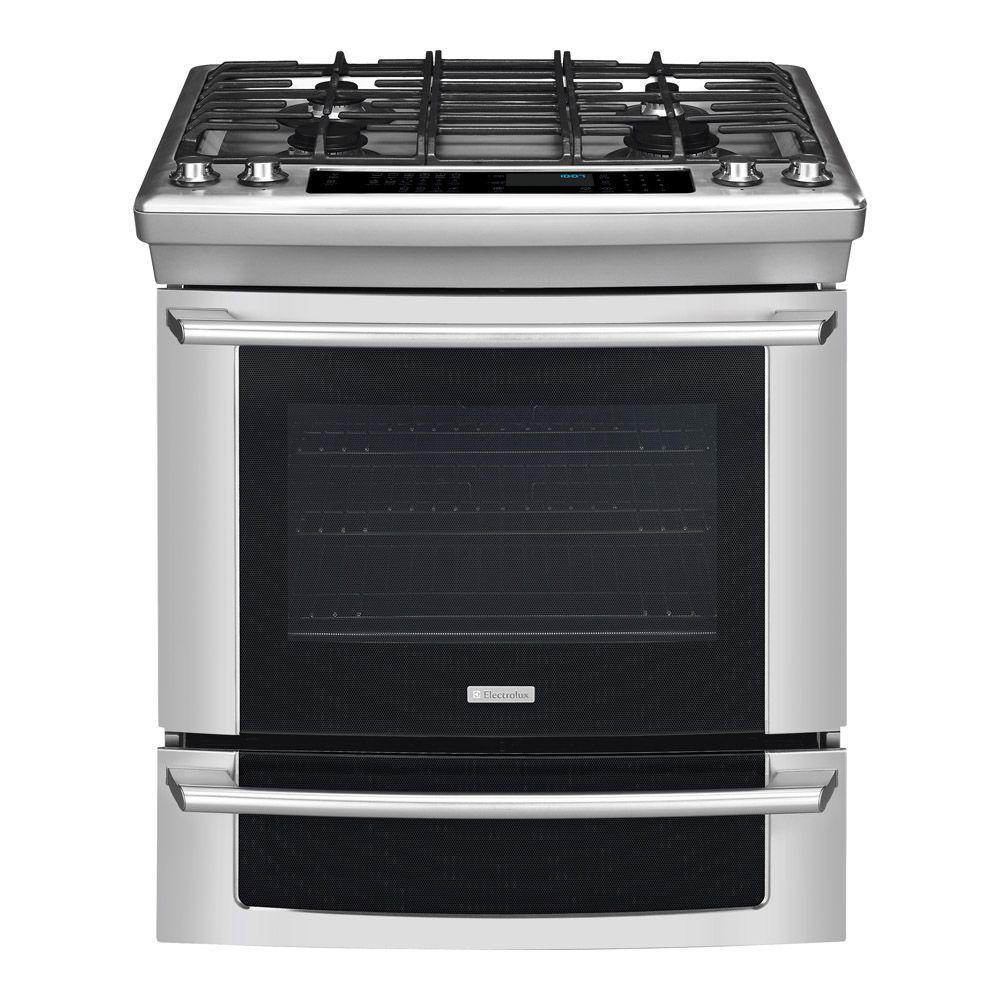 Electrolux IQ-Touch 4.2 cu. ft. Slide-In Dual Fuel Range with Self-Cleaning Convection Oven in Stainless Steel-DISCONTINUED