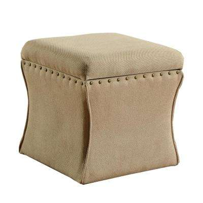 Cinch Storage Ottoman with Nail Heads