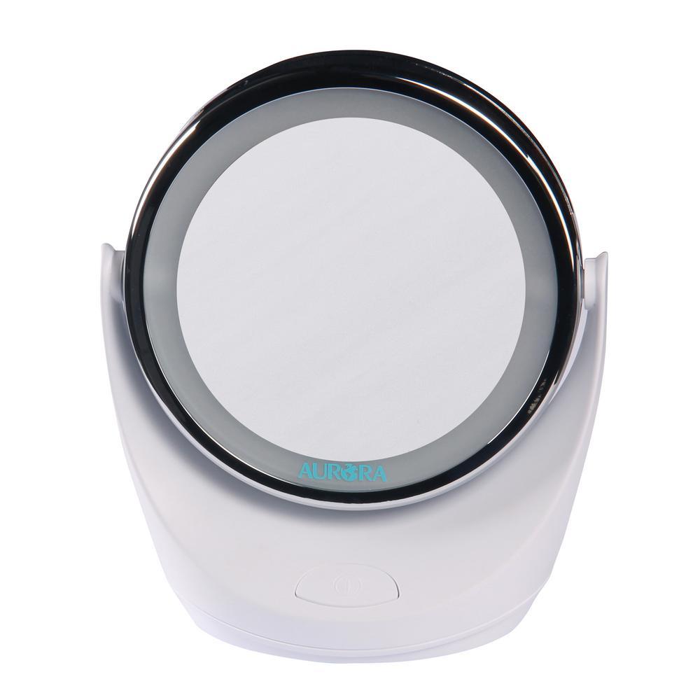 Aurora Health & Beauty 5X LED Vanity Makeup Mirror