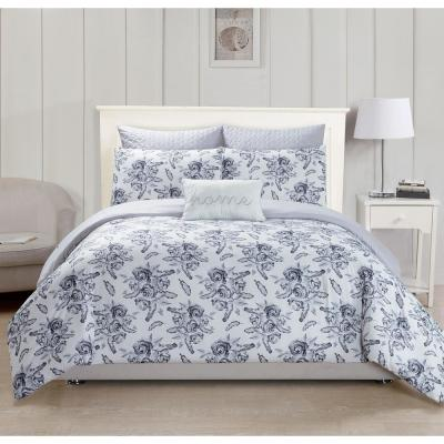 Gianni Kensie Grey 3-Piece Full Duvet Set