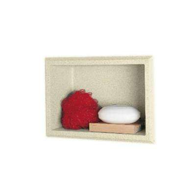 Easy Up Adhesive Recessed Solid Surface Soap Dish/Accessory Shelf in Bone