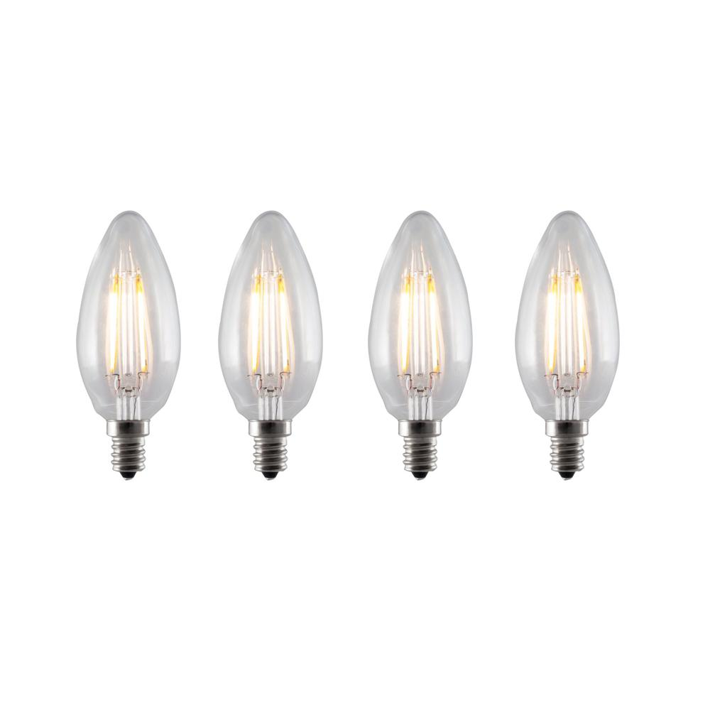 Bulbrite 40w Equivalent Warm White Light B11 Dimmable Led: Bulbrite 20-Watt Equivalent T3 Non-Dimmable Festoon LED