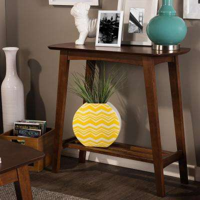 Sacramento Mid-Century Medium Brown Wood Console Table
