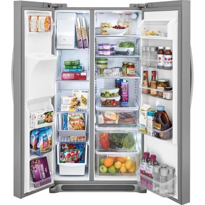 25.6 cu. ft. Side by Side Refrigerator in Stainless Steel