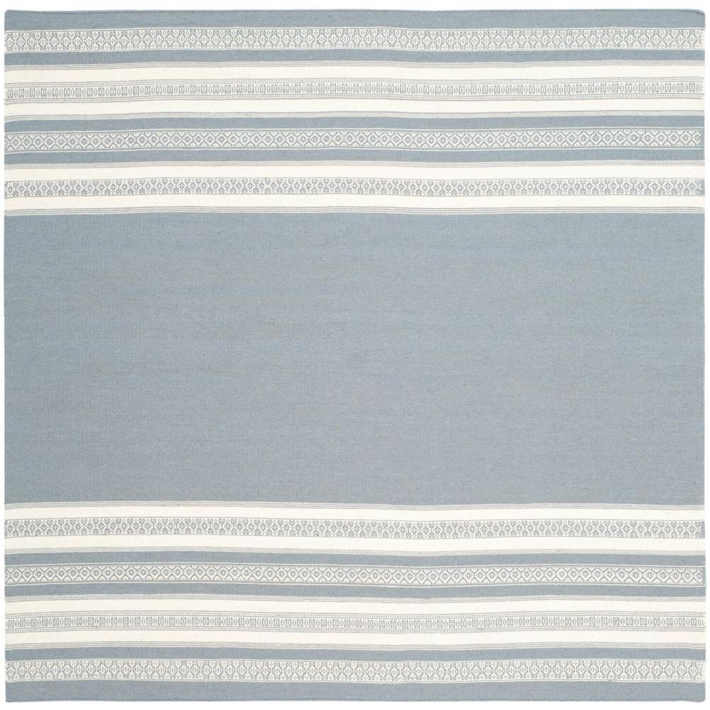 Dhurries Grey 6 ft. x 6 ft. Square Area Rug