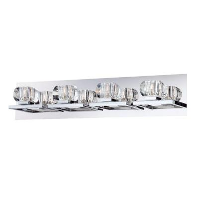 Casa Collection 4-Light Chrome and Clear Bath Light