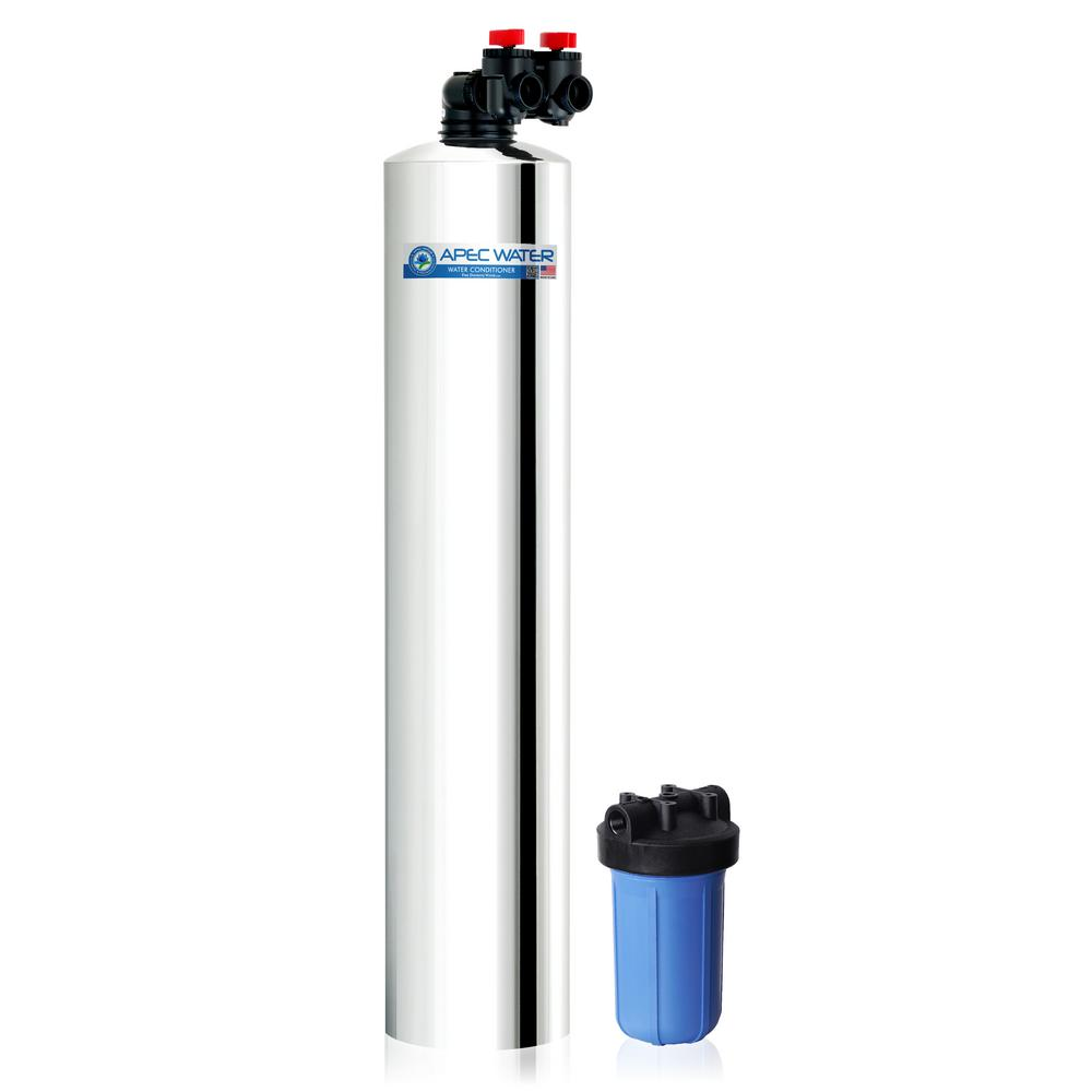 APEC Water Systems Premium 15 GPM Whole House Salt-Free Water Softener System with Pre-Filter