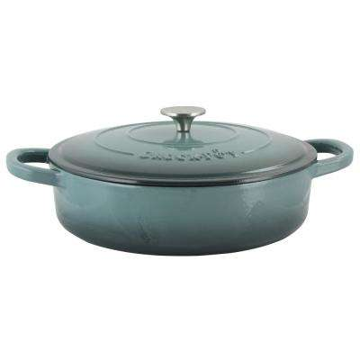 Artisan 5 Qt. Enameled Cast Iron Round Braiser Pan with Self Basting Lid