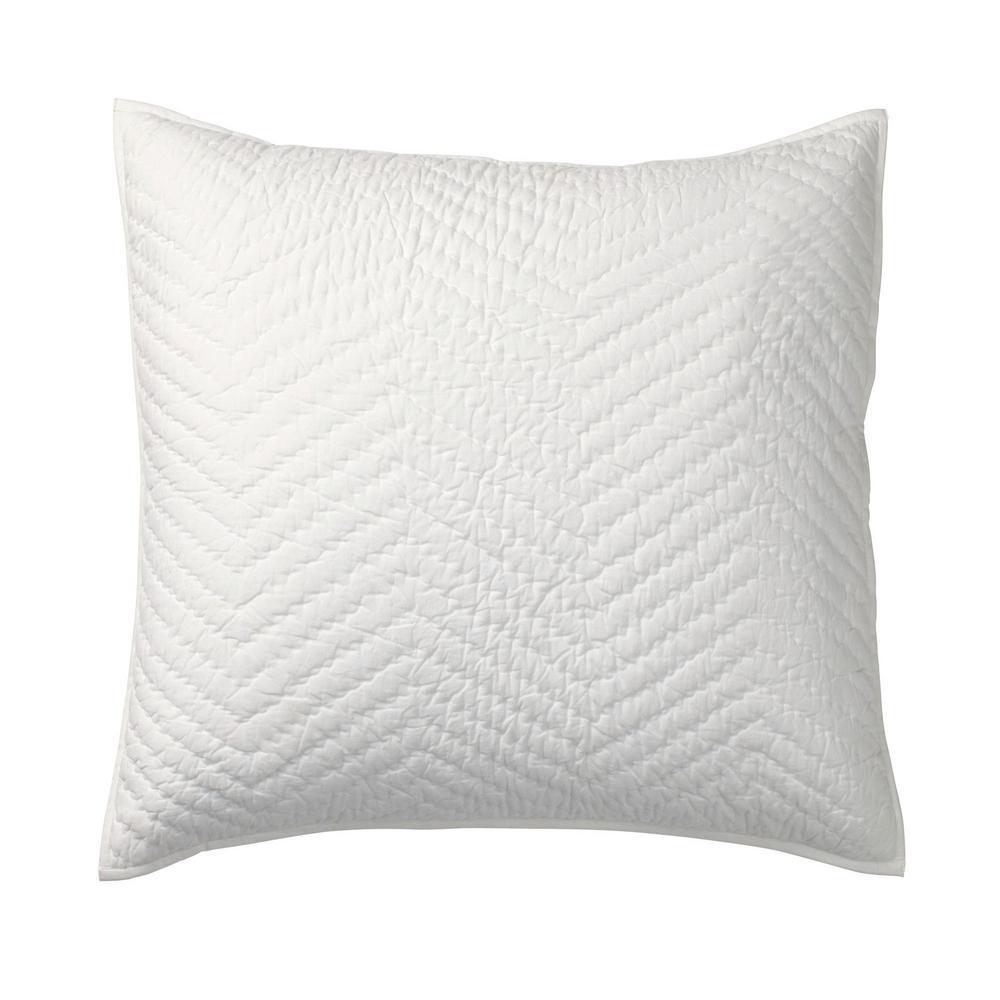Company Cotton White Solid Euro Sham