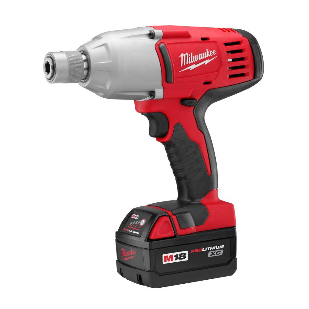 Milwaukee M18 18-Volt Lithium-Ion 7/16 in. Cordless High Torque Impact Wrench Kit