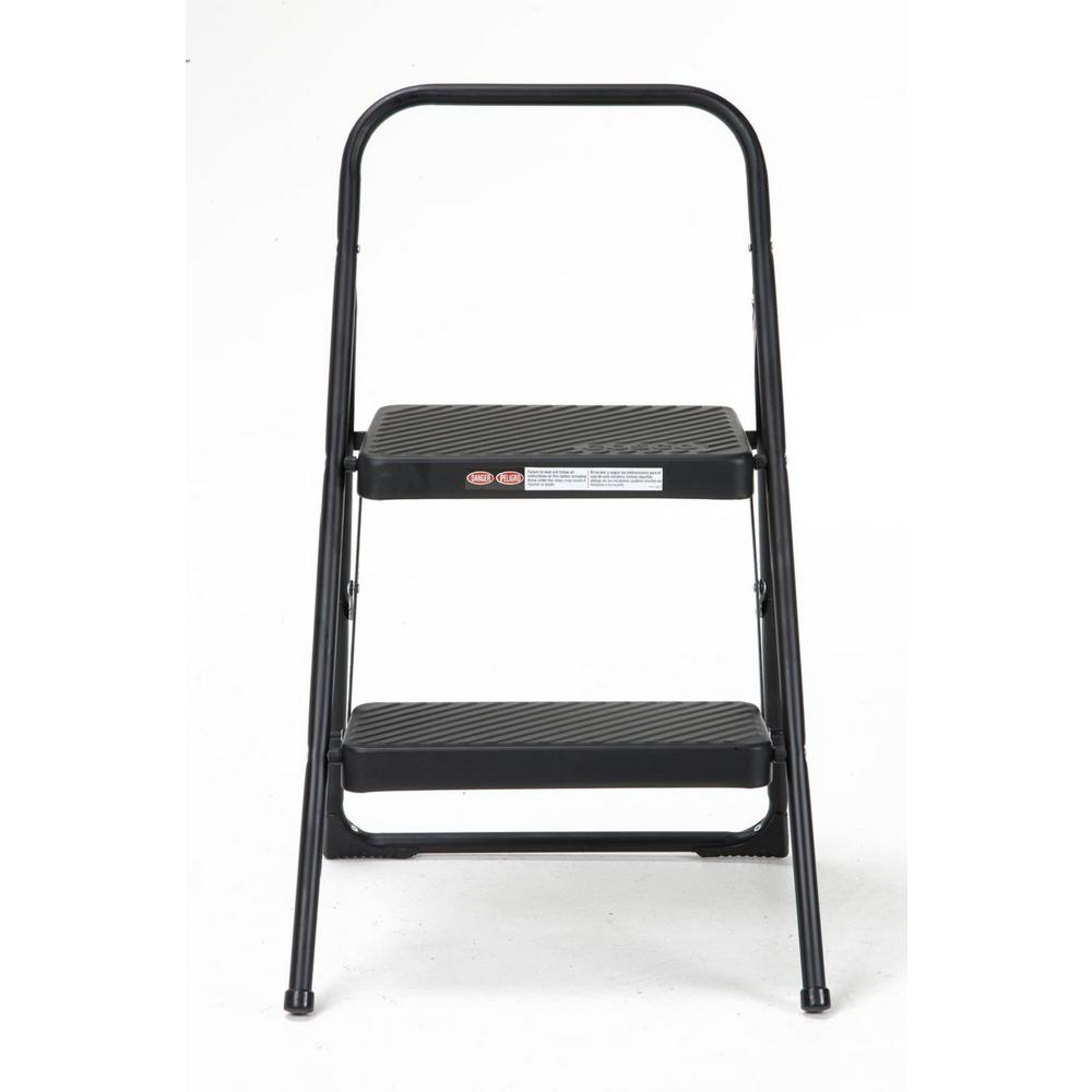Stupendous Cosco 2 Step Steel Folding Step Stool Ladder With 200 Lb Load Capacity Type Iii Duty Rating In Black Ocoug Best Dining Table And Chair Ideas Images Ocougorg