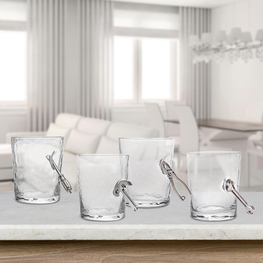11 oz. Handyman Clear Crystal Highball Dof Glass (Set of 4)