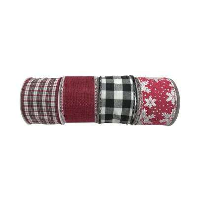 Holiday Traditions 2.5 in. x 30 ft. Decorative Ribbon (4 Assorted Styles Available)