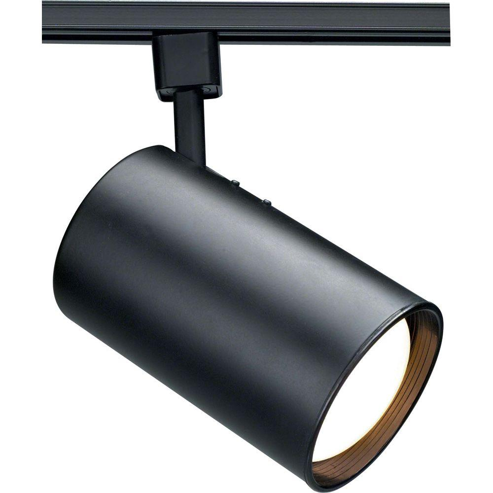 Track Light Heads: Glomar 1-Light MR16 12-Volt Black Track Lighting Head