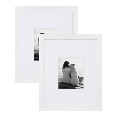 Museum 16x20 matted to 8x10 White Picture Frame Set of 2