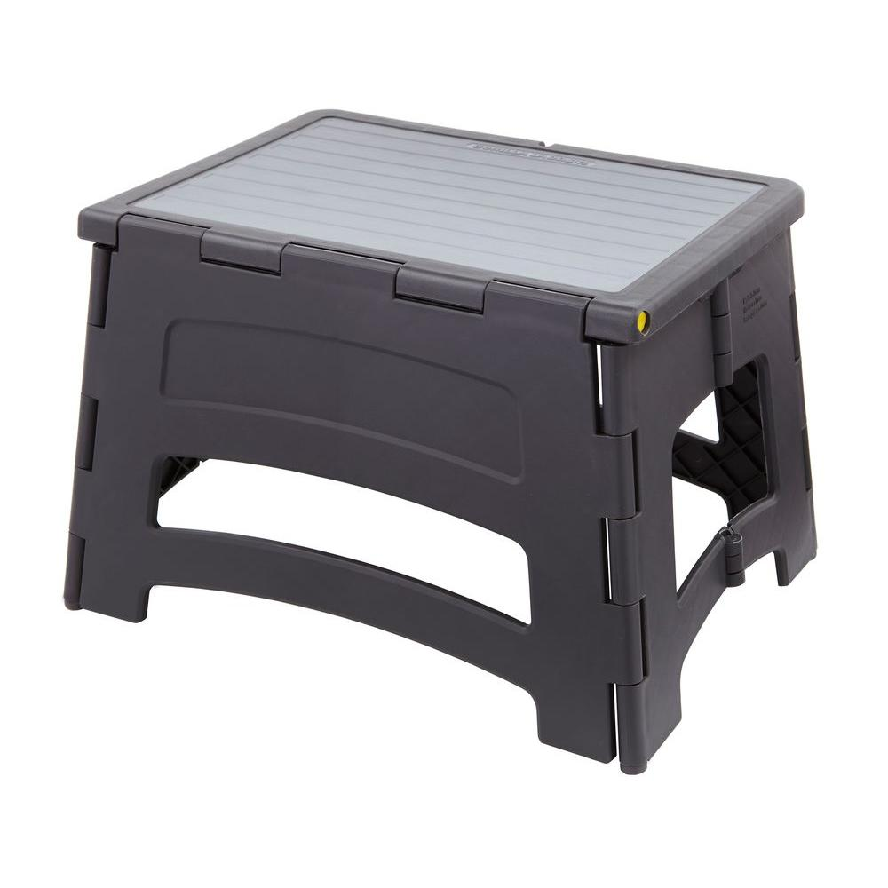 Gorilla Ladders 1-Step Plastic Stool with 300 lb. Load Capacity-GLP-1S - The Home Depot  sc 1 st  The Home Depot : home depot folding step stool - islam-shia.org