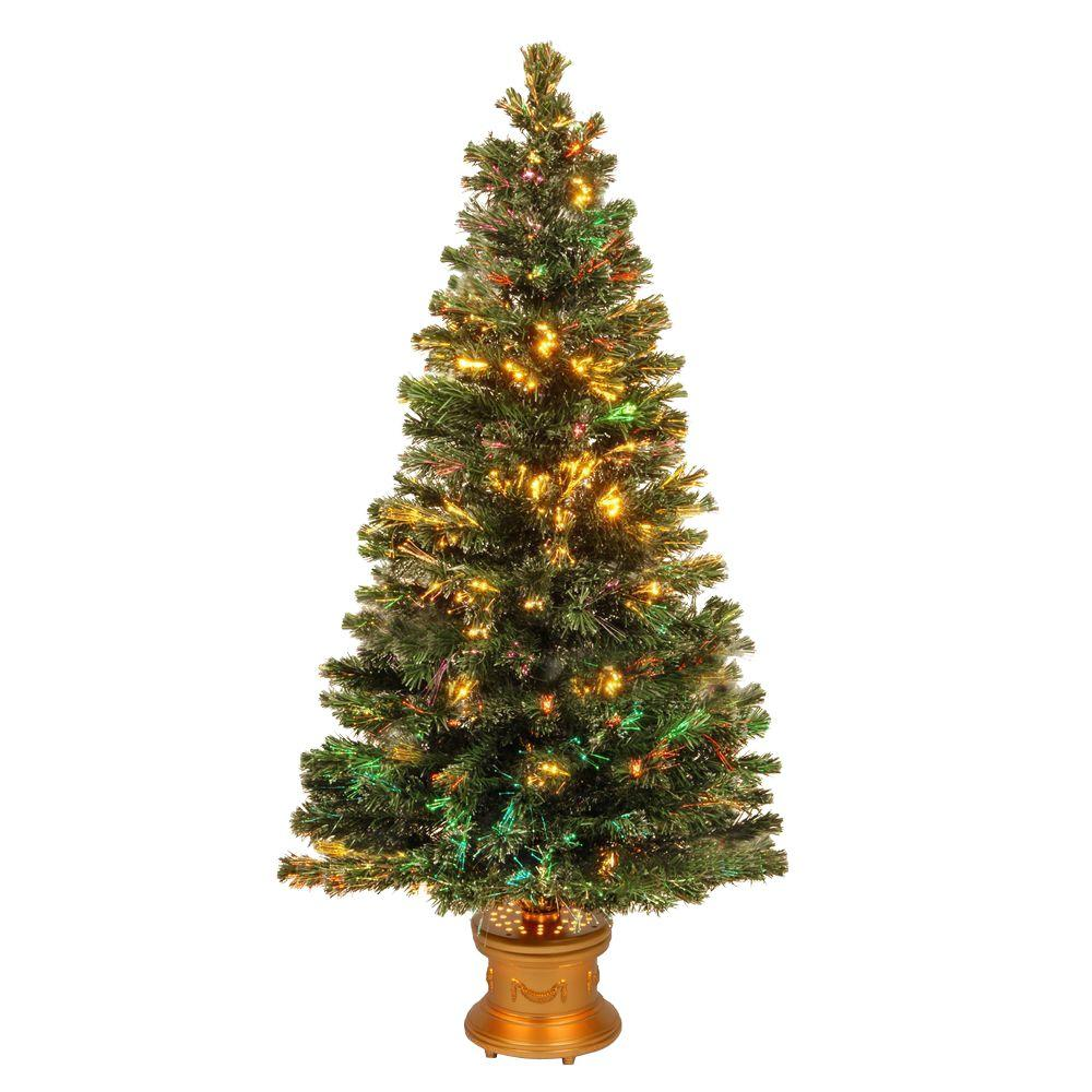 national tree company 5 ft fiber optic fireworks evergreen artificial christmas tree - 12 Foot Christmas Tree
