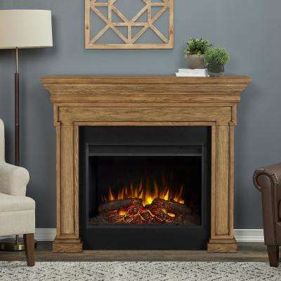 Emerson Grand 56 in. Freestanding Electric Fireplace in English Oak