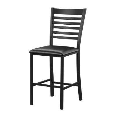 Maneri 25 in. Black Counter Height Dining Chair (Set of 2)