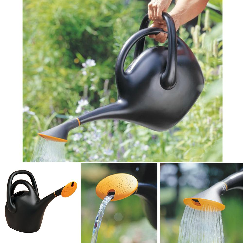 Bloem 2.6 Gallon Black Watering Can Plastic Easy Pour