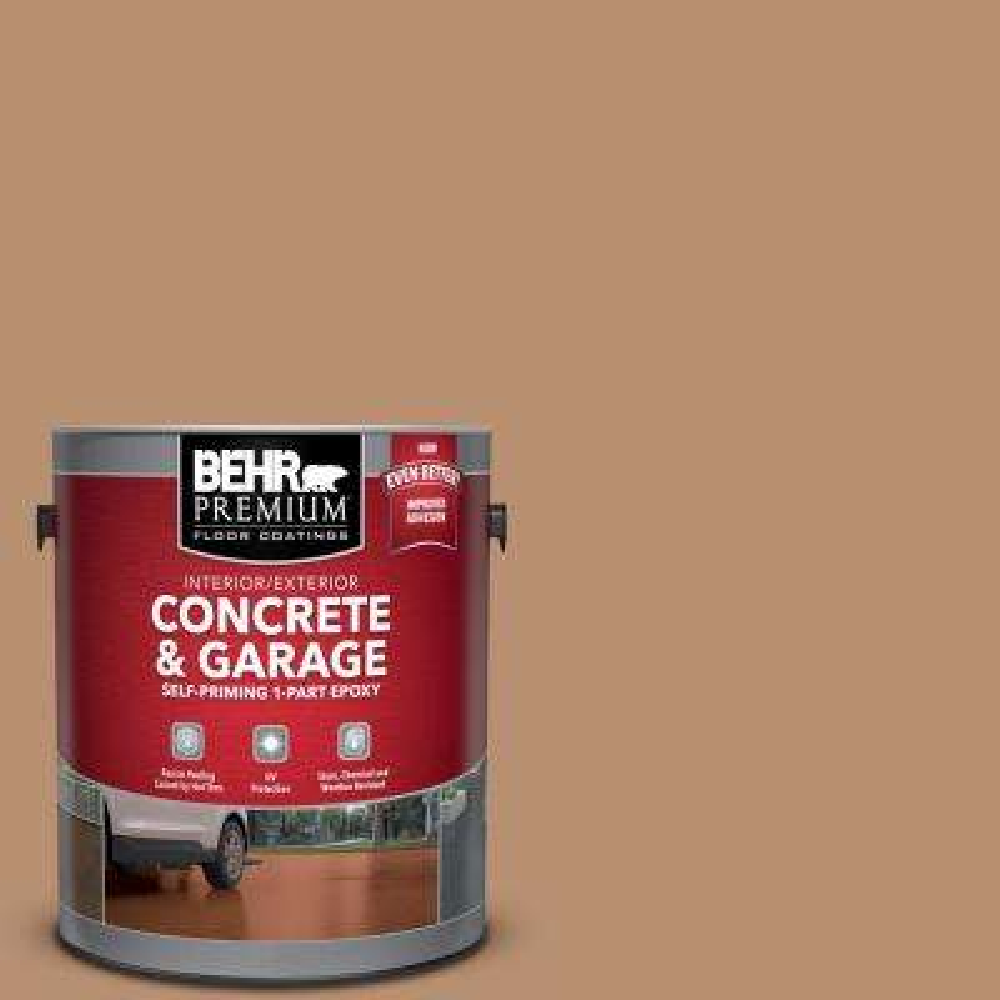 1 gal. #S230-5 Sugar Maple Self-Priming 1-Part Epoxy Satin Interior/Exterior Concrete and Garage Floor Paint