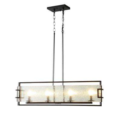 Anares III 4-Light Black Bronze Pendant