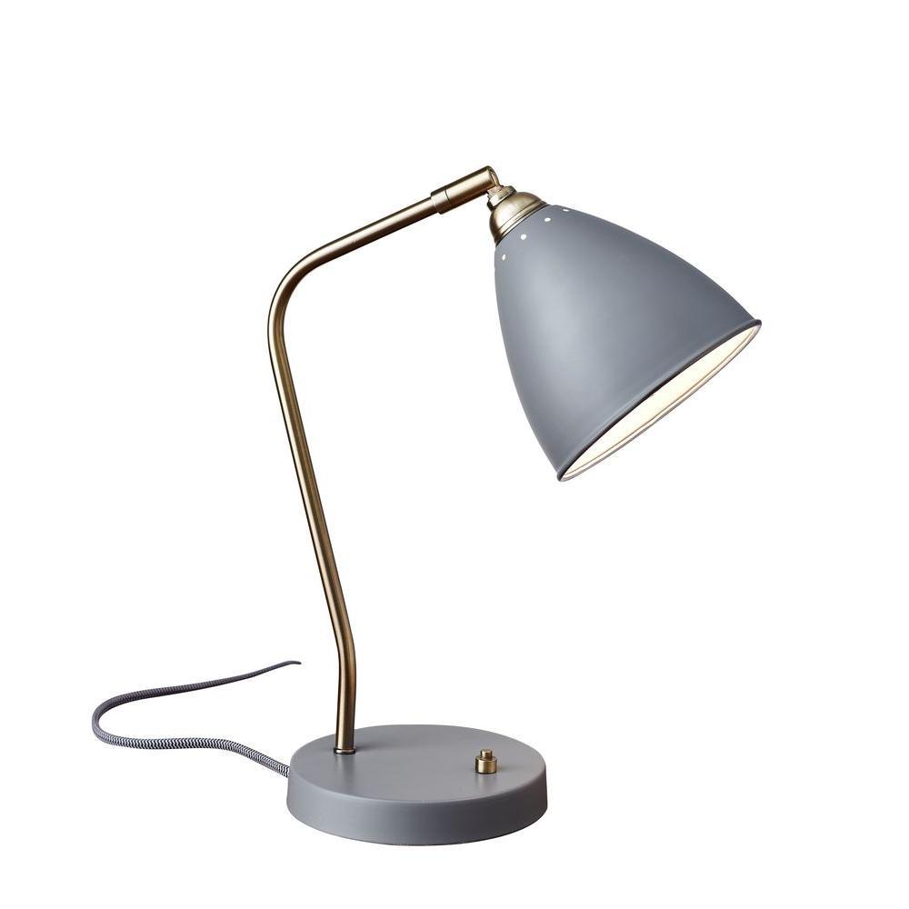 21 in. Grey Chelsea Desk Lamp