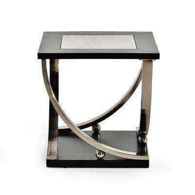 Ramsey Ebony Mirror and Wood End Table
