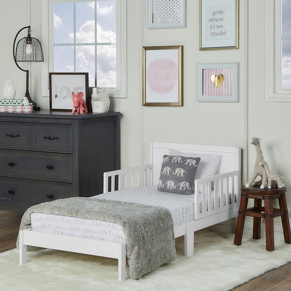 Brookside White Toddler Adjustable Bed