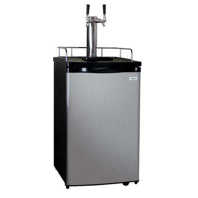 20 in. Wide Dual Tap Stainless Steel Kegerator