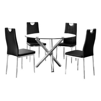 Mozart 5 Pcs Dinette Set, Black