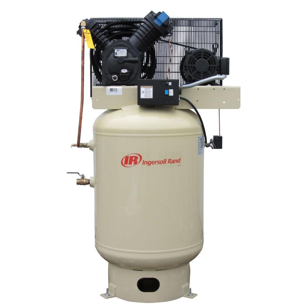 Ingersoll Rand Type 30 Reciprocating 120 Gal 10 Hp Electric 230 Volt 3 Phase
