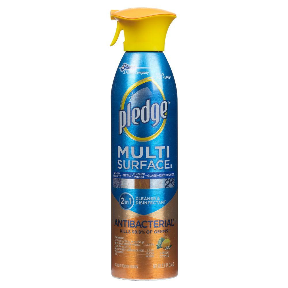 Pledge 9.7 oz. Fresh Citrus Antibacterial Multi Surface Everyday Cleaner