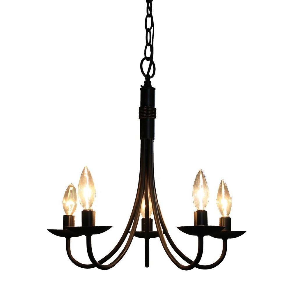 5-Light Black Chandelier