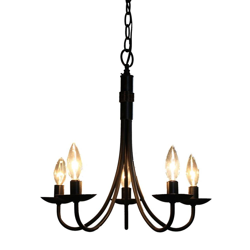 Brno 5-Light Black Chandelier